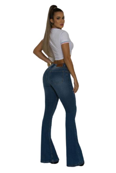 Calça Jeans Feminina TXC Brand Flare Mid
