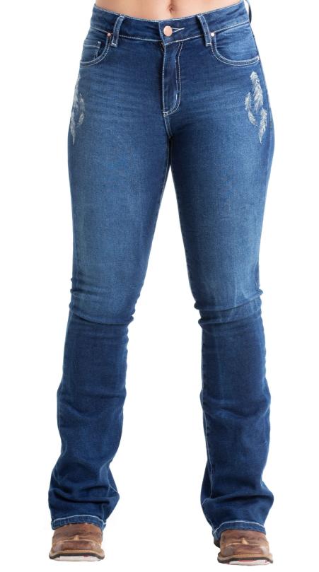 Calça Jeans Feminina West Dust Borboleta CL25767
