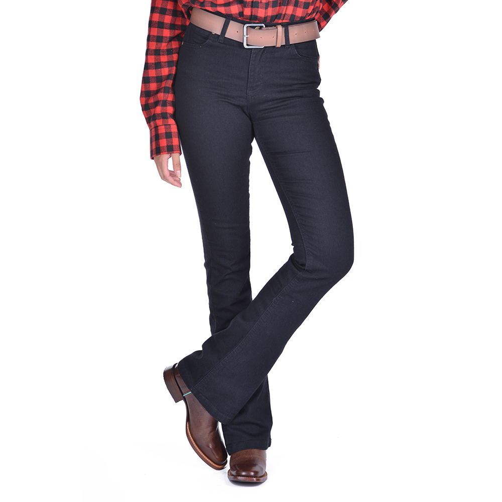 Calça Jeans Feminina Wrangler Lycra Flare Preta 21M4CWK60
