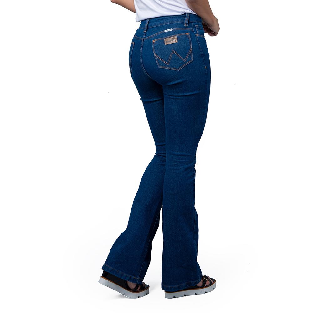 Calça Jeans Feminina Wrangler Sally Flare Stone WF2015