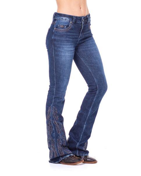 Calça Jeans Feminina Zenz Western 4 Queens ZW0221023