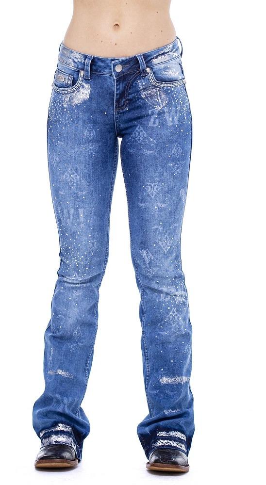 Calça Jeans Feminina Zenz Western América ZW0121015