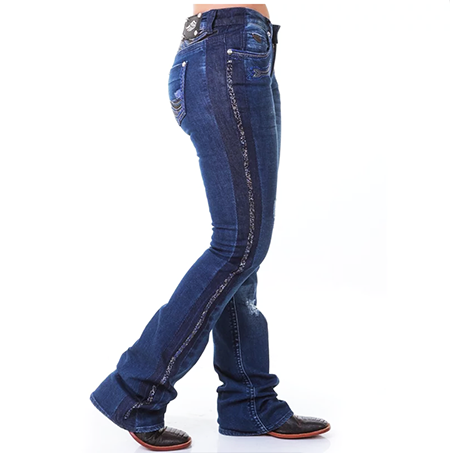 Calça Jeans Feminina Zenz Western Animal