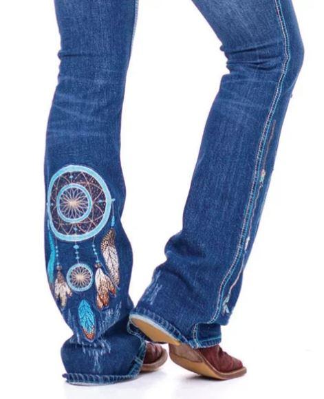 Calça Jeans Feminina Zenz Western Califórnia Hotel ZW0221020