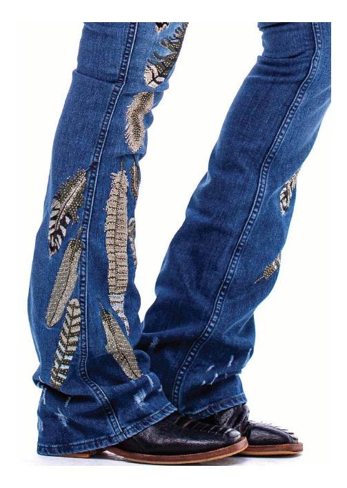 Calça Jeans Feminina Zenz Western Ceasars ZW0121009