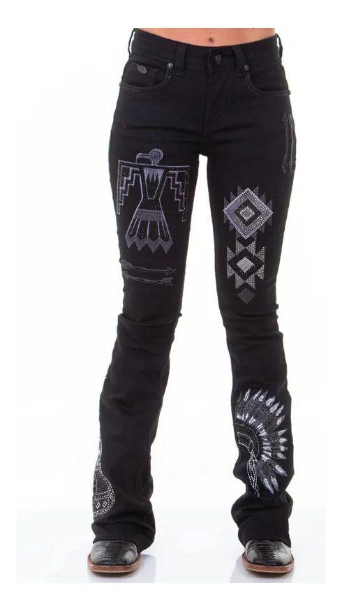 Calça Jeans Feminina Zenz Western Cherokee