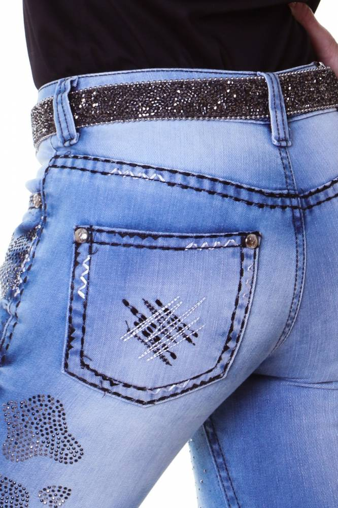 Calça Jeans Feminina Zenz Western Cow