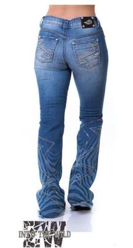 Calça Jeans Feminina Zenz Western Falcon