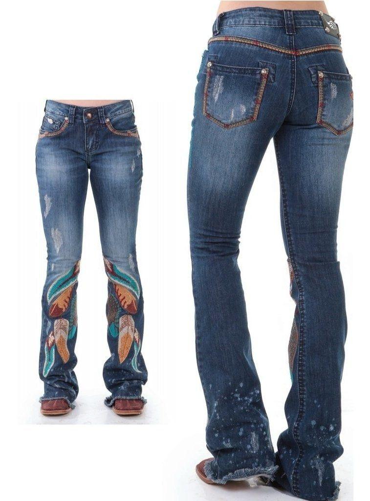 Calça Jeans Feminina Zenz Western Folk