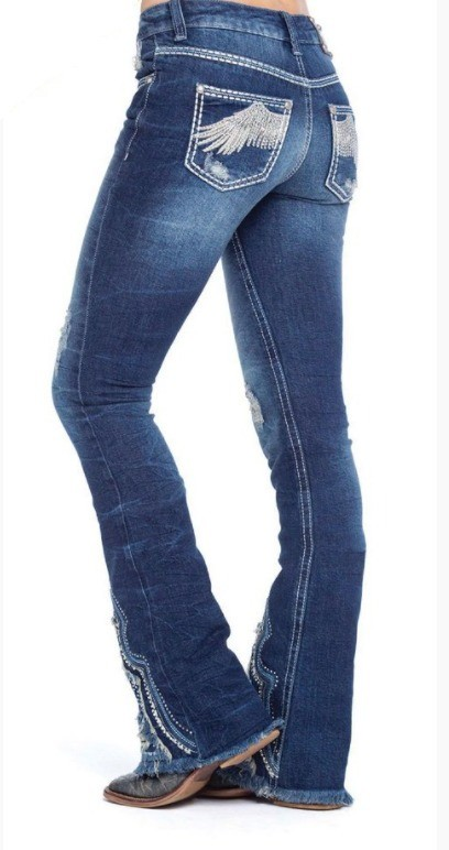 Calça Jeans Feminina Zenz Western Royal