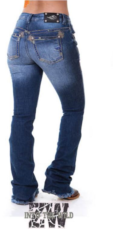 Calça Jeans Feminina Zenz Western Selvagem
