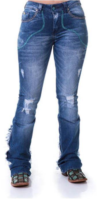 Calça Jeans Feminina Zenz Western Zimbabue
