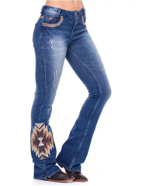 Calça Jeans Feminina Zenz Western ZW Ranch ZW0221019