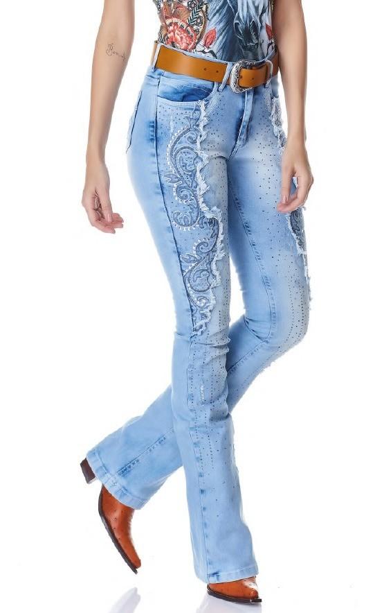 Calça Jeans Flare Feminina Minuty Country 20714