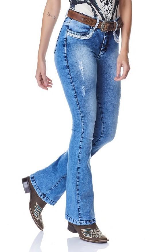 Calça Jeans Flare Feminina Minuty Country 20743