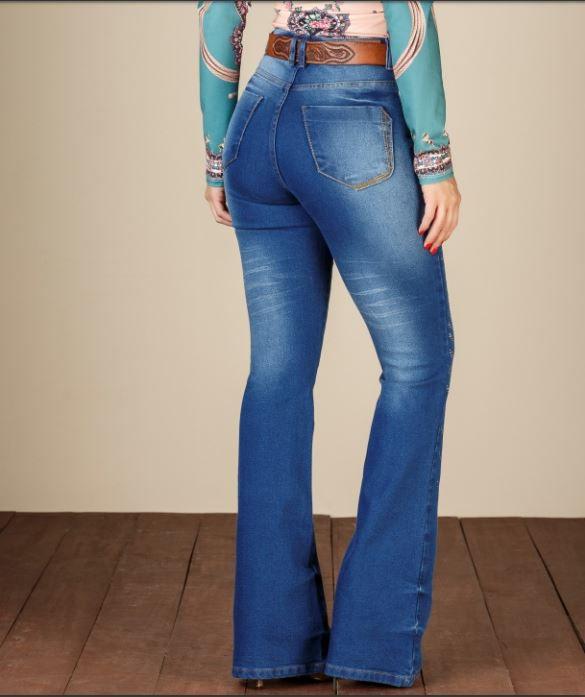 Calça Jeans Flare Minuty 19361