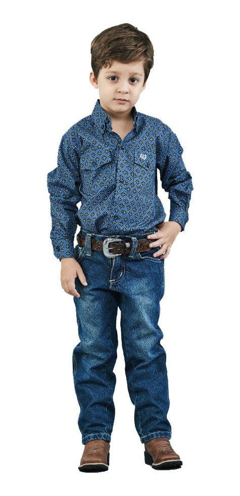 Calça Jeans Infantil Docks Fluor White