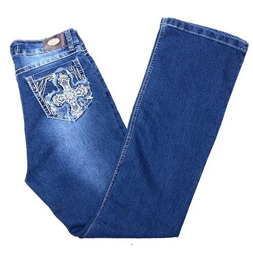 Calça Jeans Feminina Lycra Flare Dock s  a1eb0d5762e