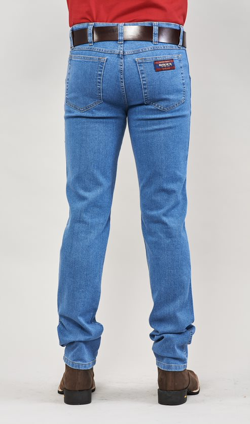 Calça Jeans Masculina Tradicional Lycra Docks Delave