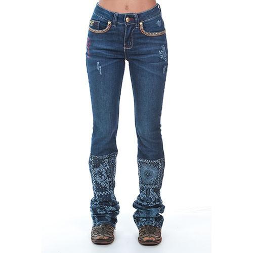Calça Jeans Feminina Milano Zenz Western  8c850993d71