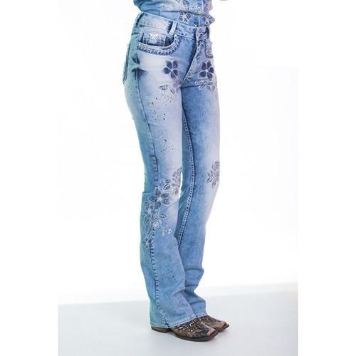 Calça Feminina Jeans Spring Blue Zenz Western  0bdb30787e7