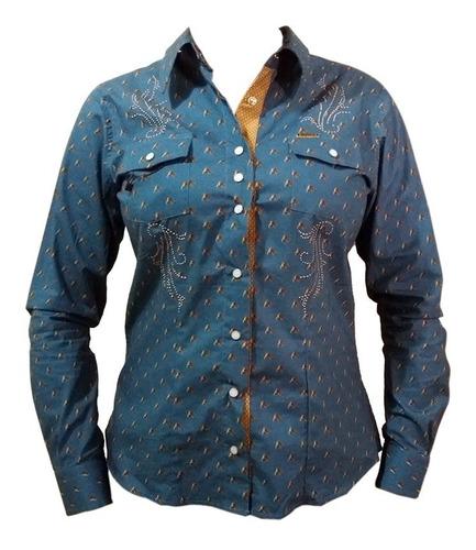 Camisa Feminina Dock´s Cavalos Bordada