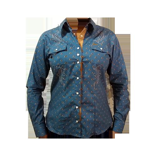 eeb07f6fe1 Camisa Feminina Dock´s Cavalos Bordada