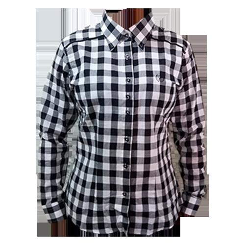 b92ff4ec70 Camisa Feminina Dock´s Xadrez Bordada