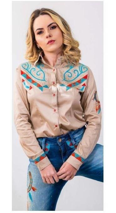 Camisa Feminina Miss Country Kansas