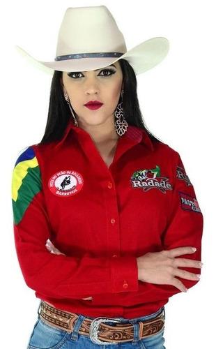 Camisa Feminina Radade Barretos Vermelha