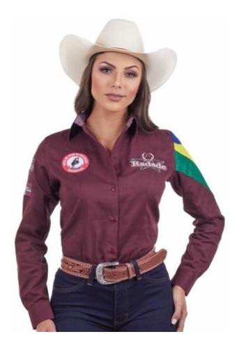 Camisa Feminina Radade Barretos Vinho