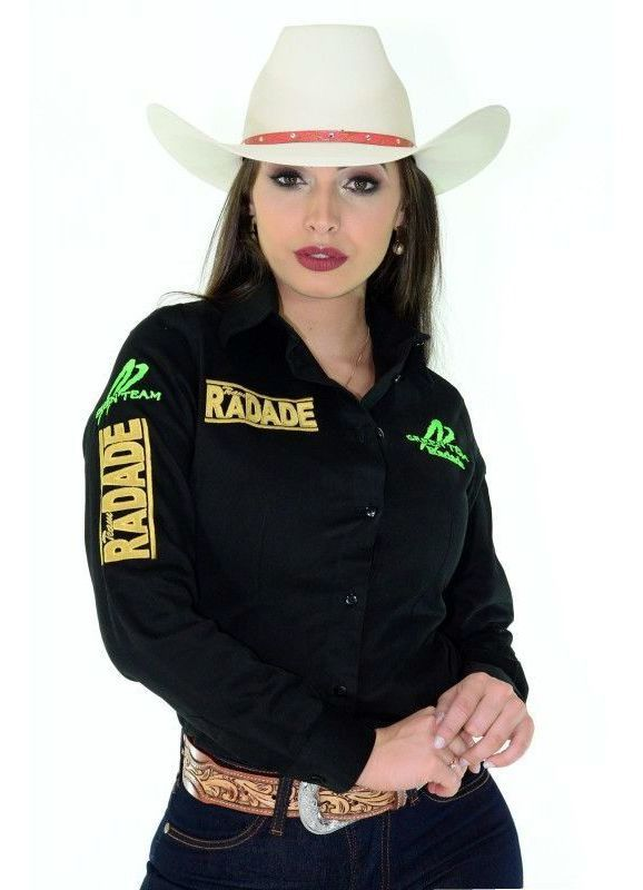 Camisa Feminina Radade Green Team  Preta