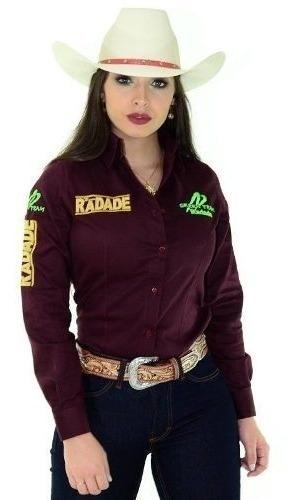 Camisa Feminina Radade Green Team Vinho