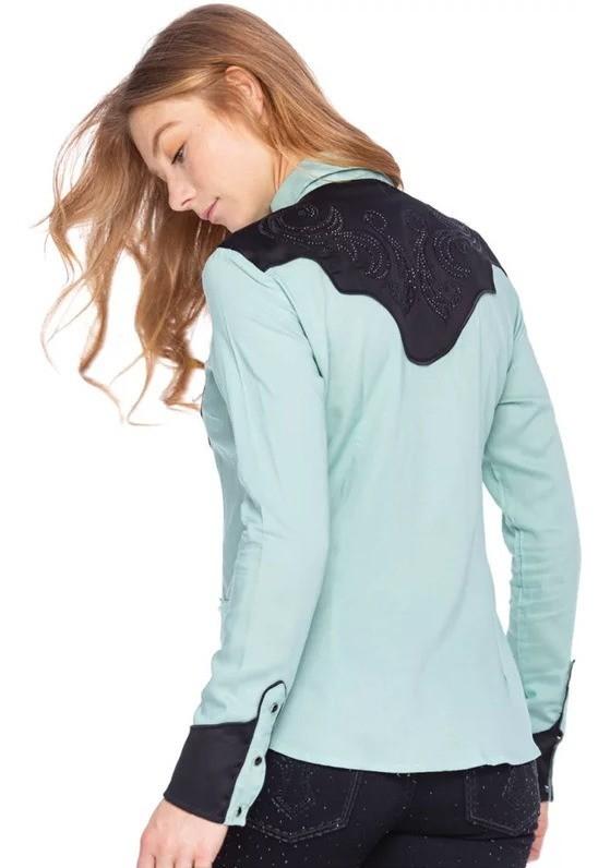 Camisa Feminina Zenz Western Aquamarine ZW0320023