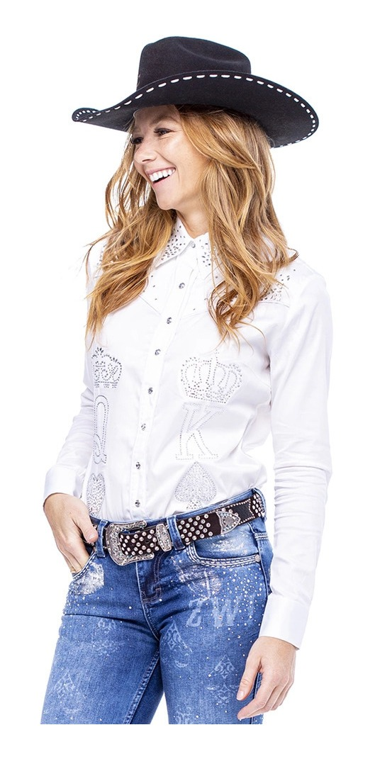 Camisa Feminina Zenz Western Cosmopolitan ZW0121020