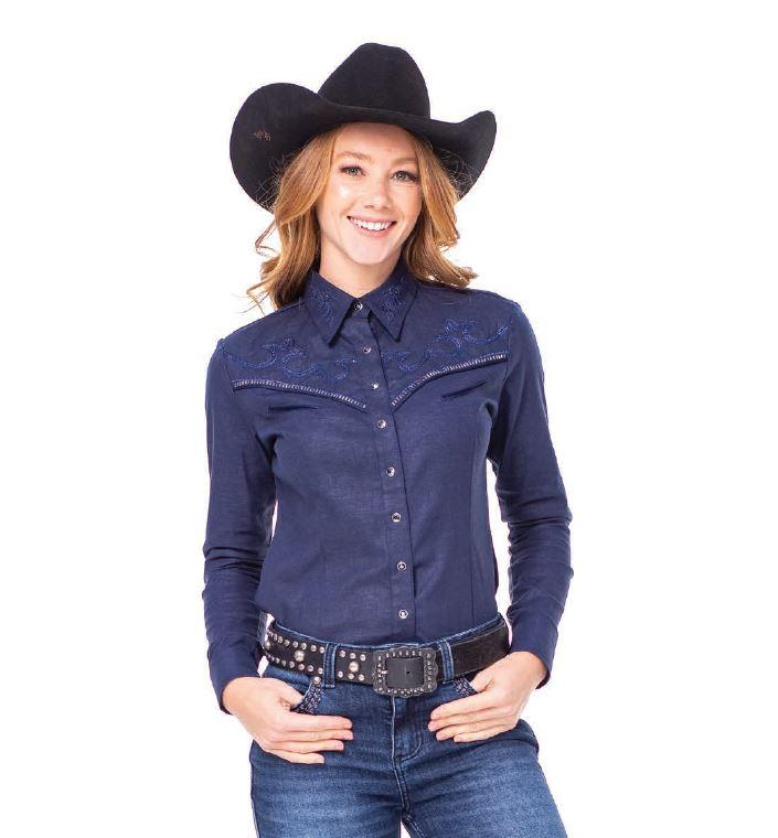 Camisa Feminina Zenz Western Lucky Strike ZW0221030