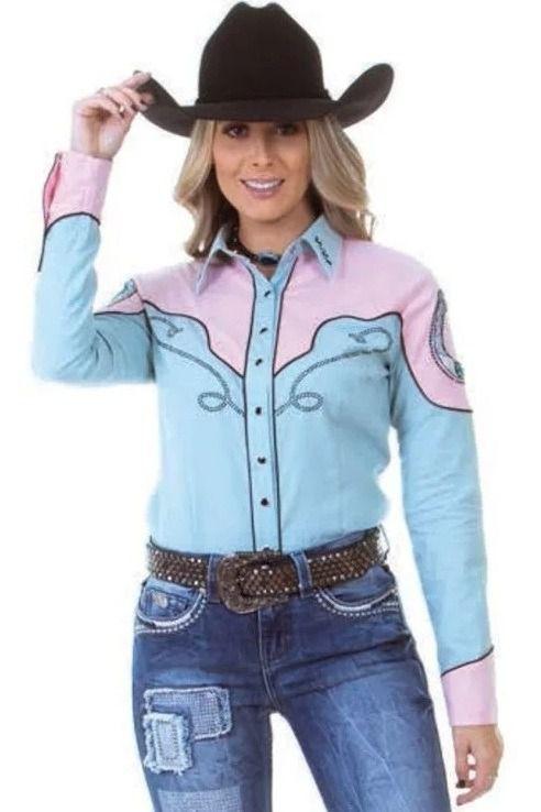 Camisa Feminina Zenz Western Retro ZW0220014