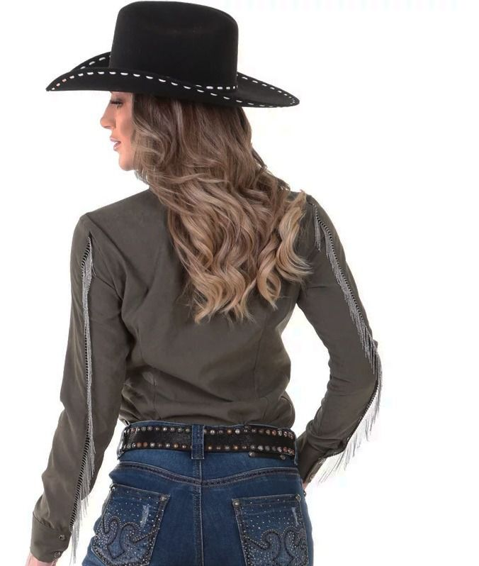 Camisa Feminina Zenz Western Rockin ZW0120021