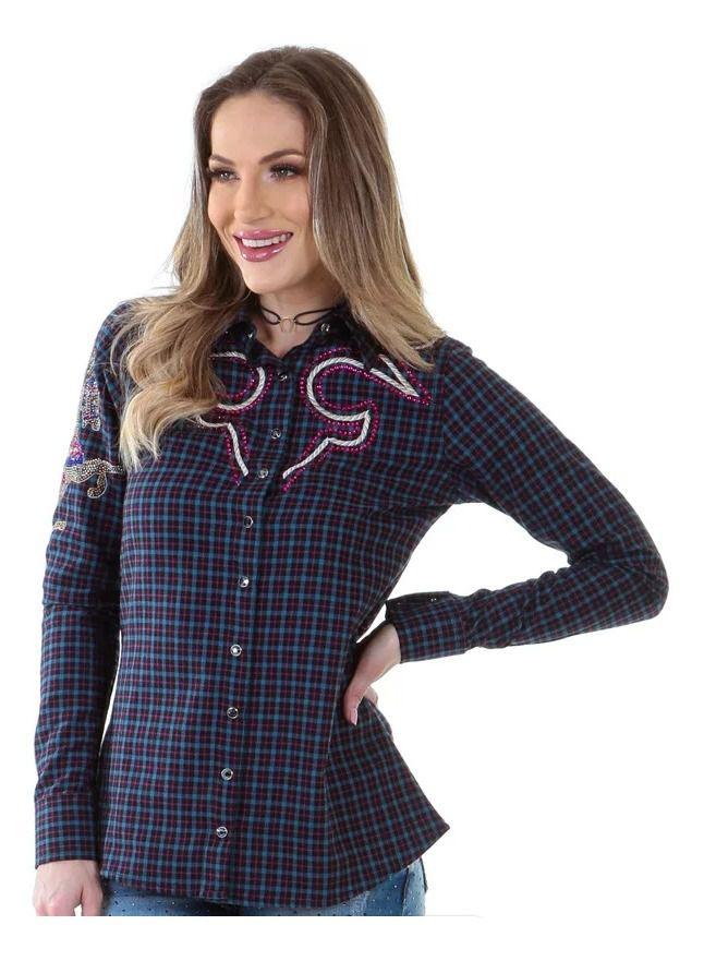 Camisa Feminina Zenz Western Rodeo ZW0120016