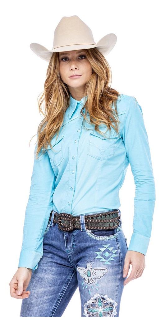 Camisa Feminina Zenz Western Venetian ZW0121019
