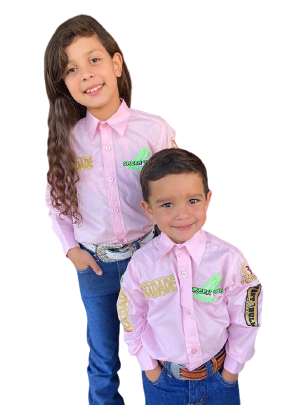 Camisa Infantil Radade Green Team Rosa