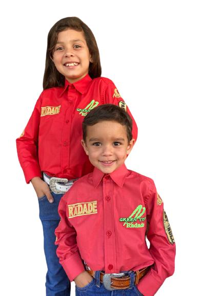 Camisa Infantil Radade Green Team Vermelha