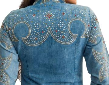 Camisa Jeans Feminina Miss Country Ametista