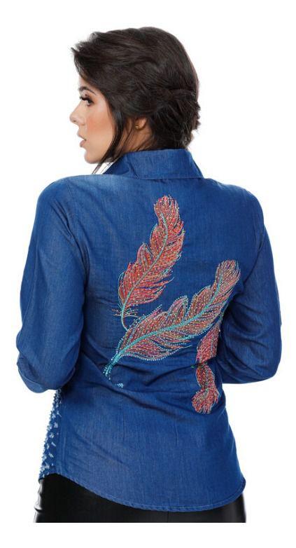 Camisa Jeans Feminina Miss Country Freedom 306