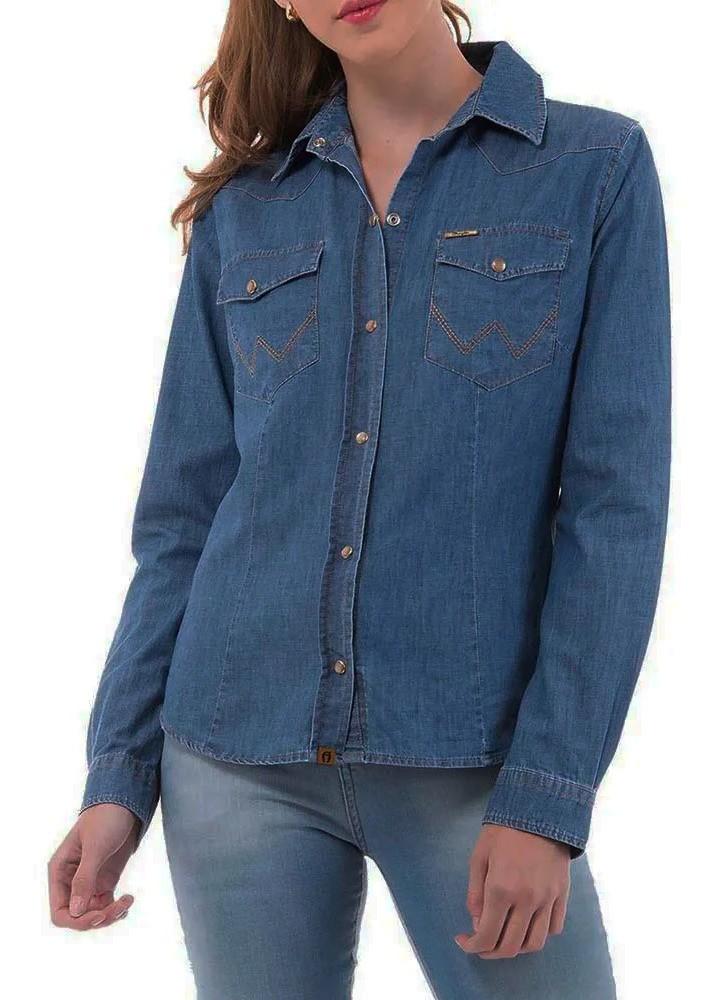 Camisa Jeans Feminina Wrangler WF7503