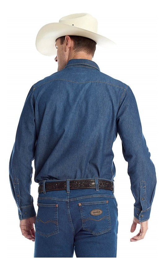 Camisa Jeans Masculina Tassa 4335