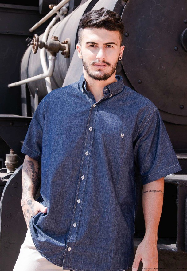 Camisa Jeans Masculina TXC Brand 2461C