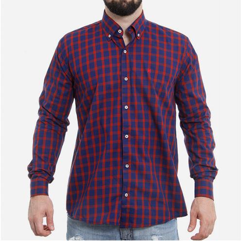 Camisa Manga Longa TXC Xadrez Vermelho Azul 2116L  f8285c858f2c8