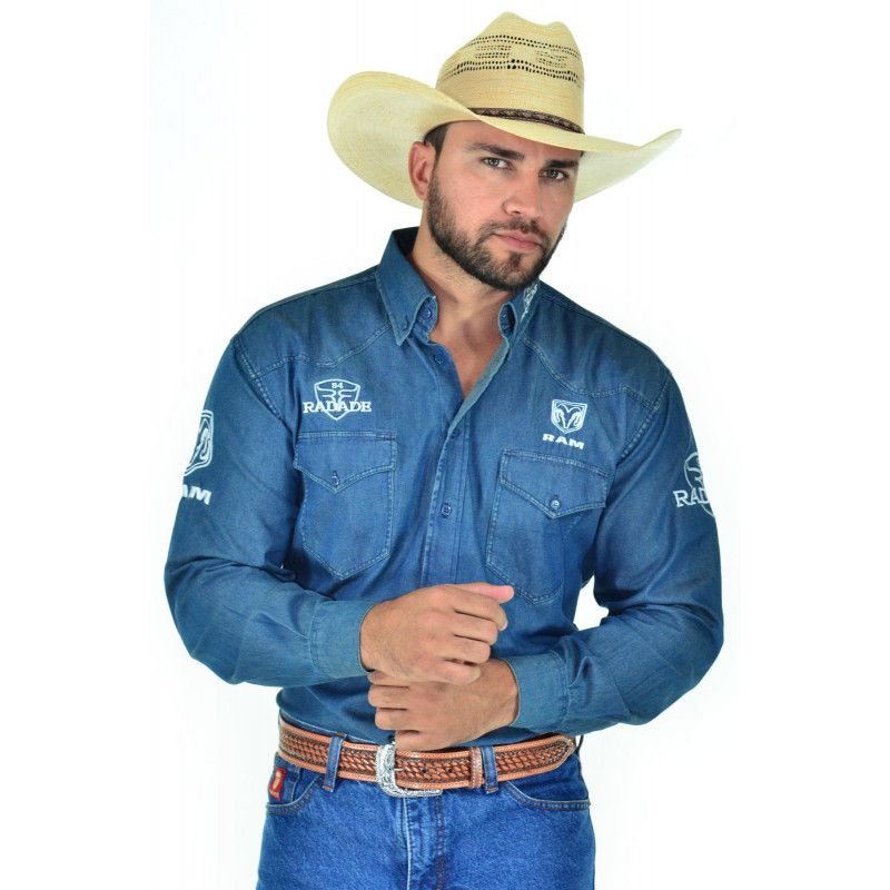 36d5f0063a604 Camisa Masculina Jeans Radade Ram