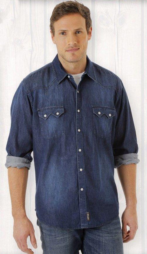 a19b395b2b Camisa Jeans Masculina Wrangler MRV282D40; Camisa Jeans Masculina Wrangler  MRV282D40
